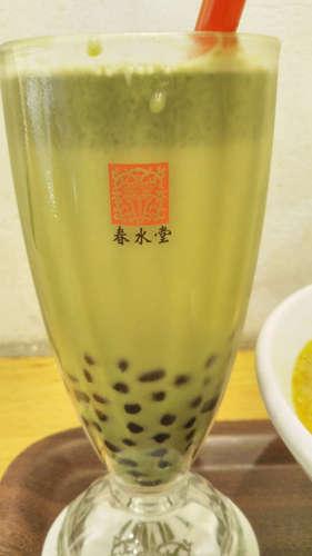 台湾カフェ 春水堂(代官山)タピオカ抹茶ミルク 氷なし201907.jpg