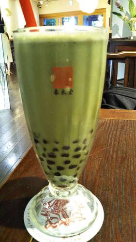台湾カフェ 春水堂(代官山)タピオカ豆乳抹茶 氷なし201908.jpg