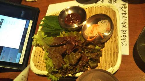 山本牛臓(麻布十番)サムギョプサルセットの野菜類201908.jpg