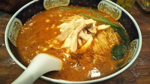 支那麺 はしご(築地新富町)鶏絲担々麺 大盛�@201911.jpg