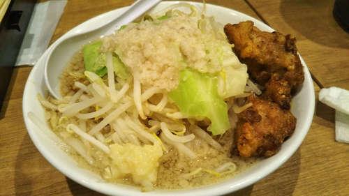 麺屋 こいけ(青山一丁目)鶏二郎 ニンニク少し�@202001.jpg